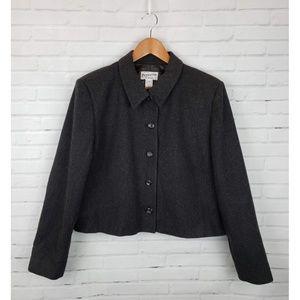 Vintage Pendleton Gray Wool Cropped Blazer Jacket